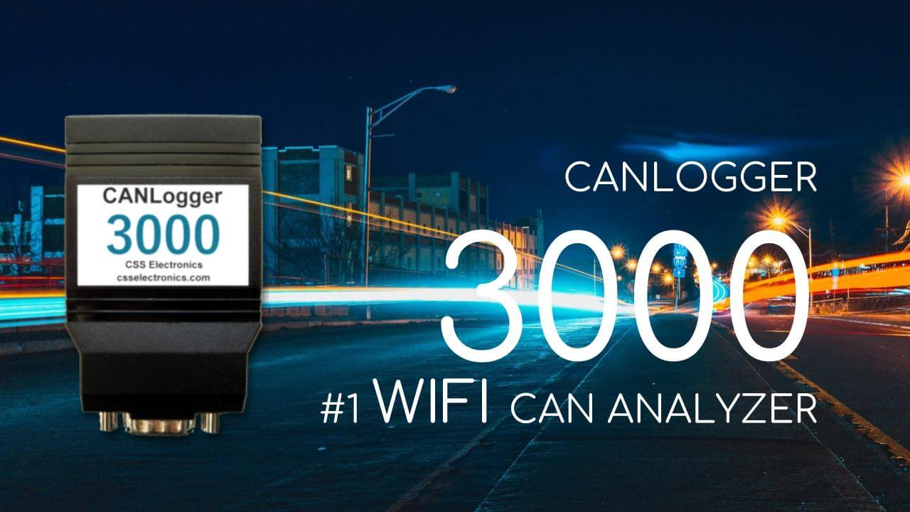 WiFi CAN Bus Vehicle Fleet Management Truck Bus CAN Logger 3000