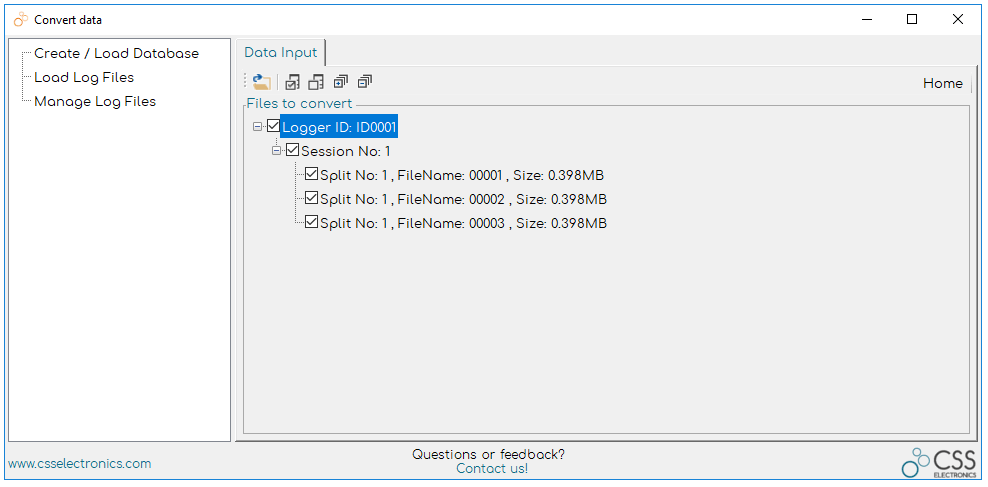 CANvas Load raw CAN Bus Log Files