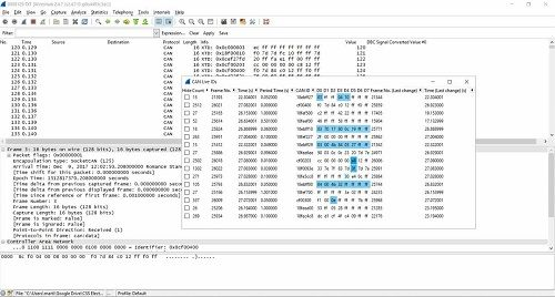 CAN Bus Sniffer - Reverse Engineering Vehicle Data (Wireshark)