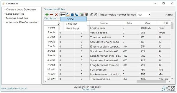 OBD2 Data Convert Human-Readable OBDII PIDs Wikipedia Database CANvas