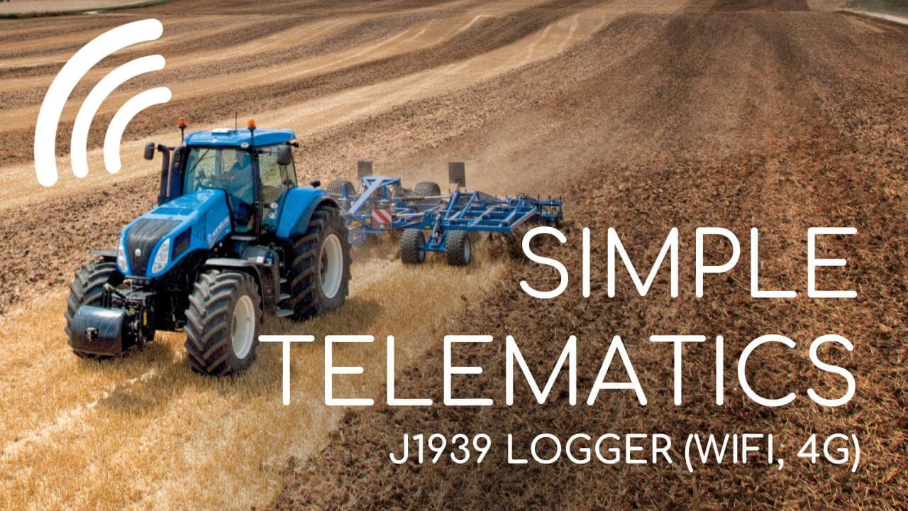 J1939 Heavy Duty Telematics Simple Zero Subscription Low Cost