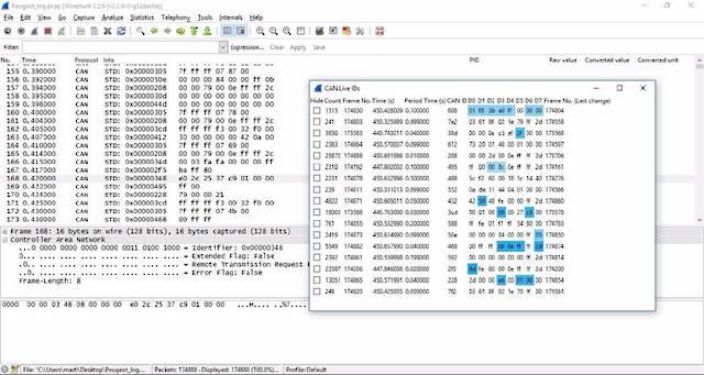 Wireshark Reverse Engineering J1939 Data