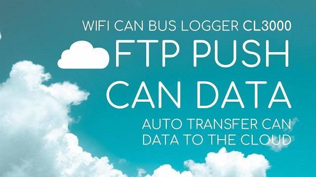 AUTO-PUSH CAN BUS DATA TO FTP / CLOUD VIA WIFI & CELLUAR