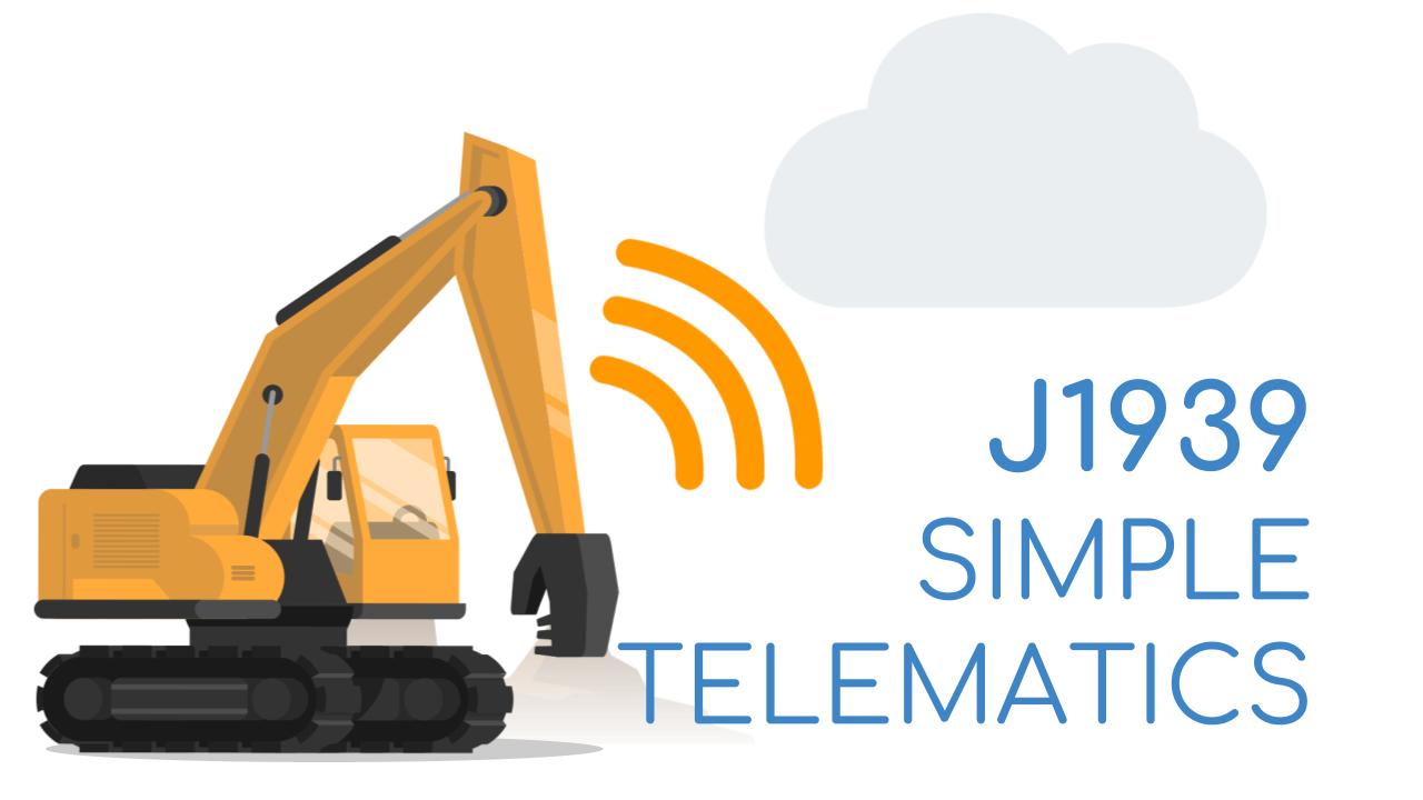 J1939 vehicle telematics data logger