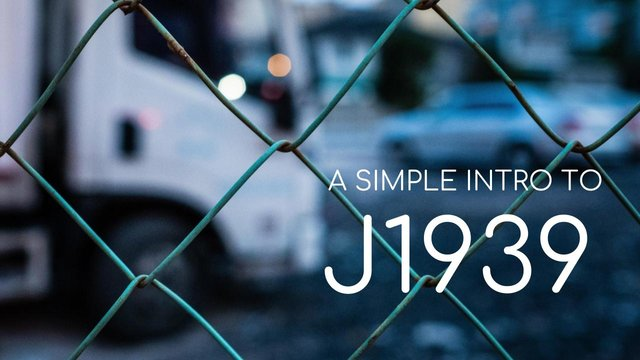 J1939 Explained - A Simple Intro