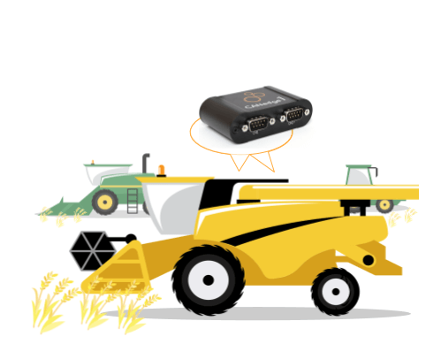 Agriculture J1939 logger harvest data